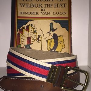 Tommy Hilfiger Fabric belt size medium red/khaki
